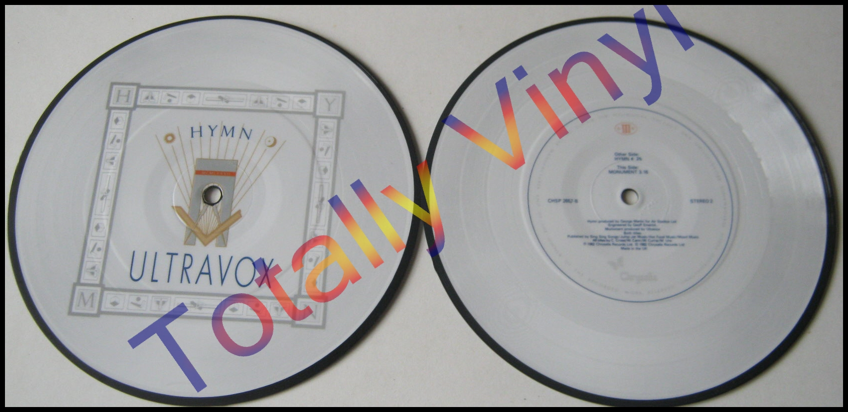 Totally Vinyl Records Ultravox Hymn 7 Inch Picture