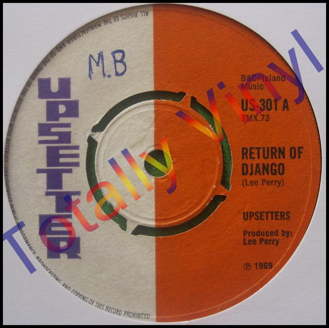 Totally Vinyl Records Upsetters Return Of Django