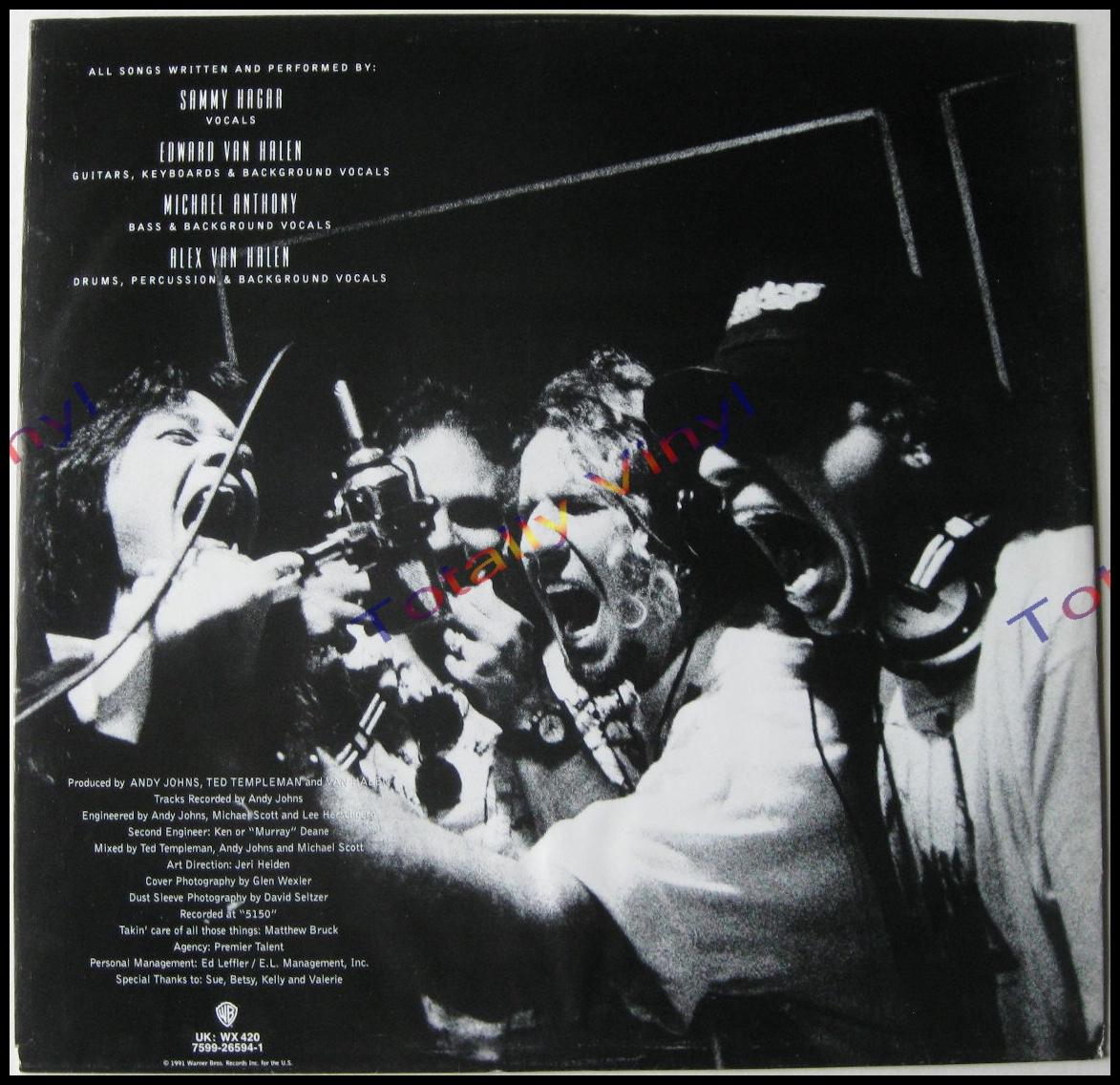 Totally Vinyl Records Van Halen For Unlawful Carnal
