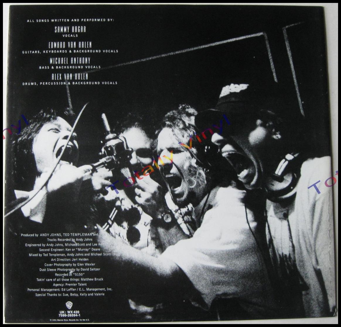 Totally Vinyl Records Van Halen For Unlawful Carnal Knowledge Lp