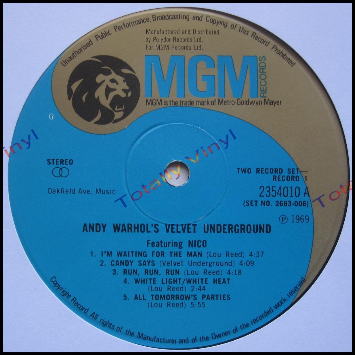 Totally Vinyl Records Velvet Underground Featuring Nico