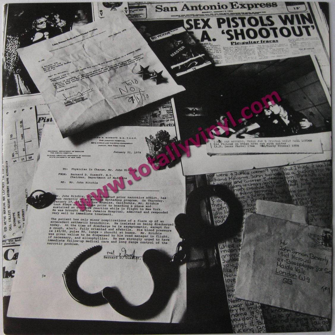 Totally Vinyl Records Vicious Sid Sid Sings Lp