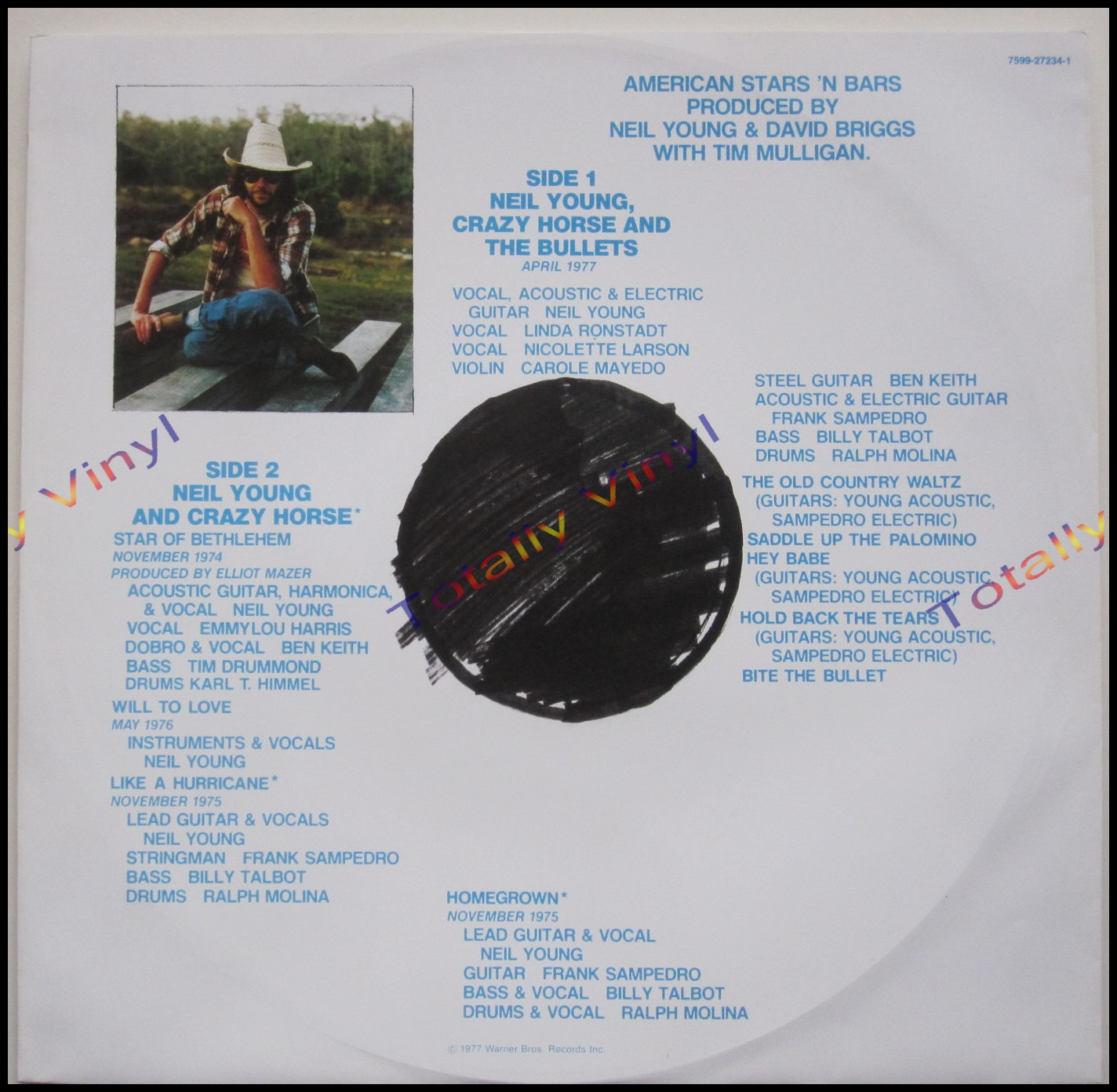 Totally Vinyl Records || Young (and Crazy Horse and the Bullets) , Neil - American stars n bars LP