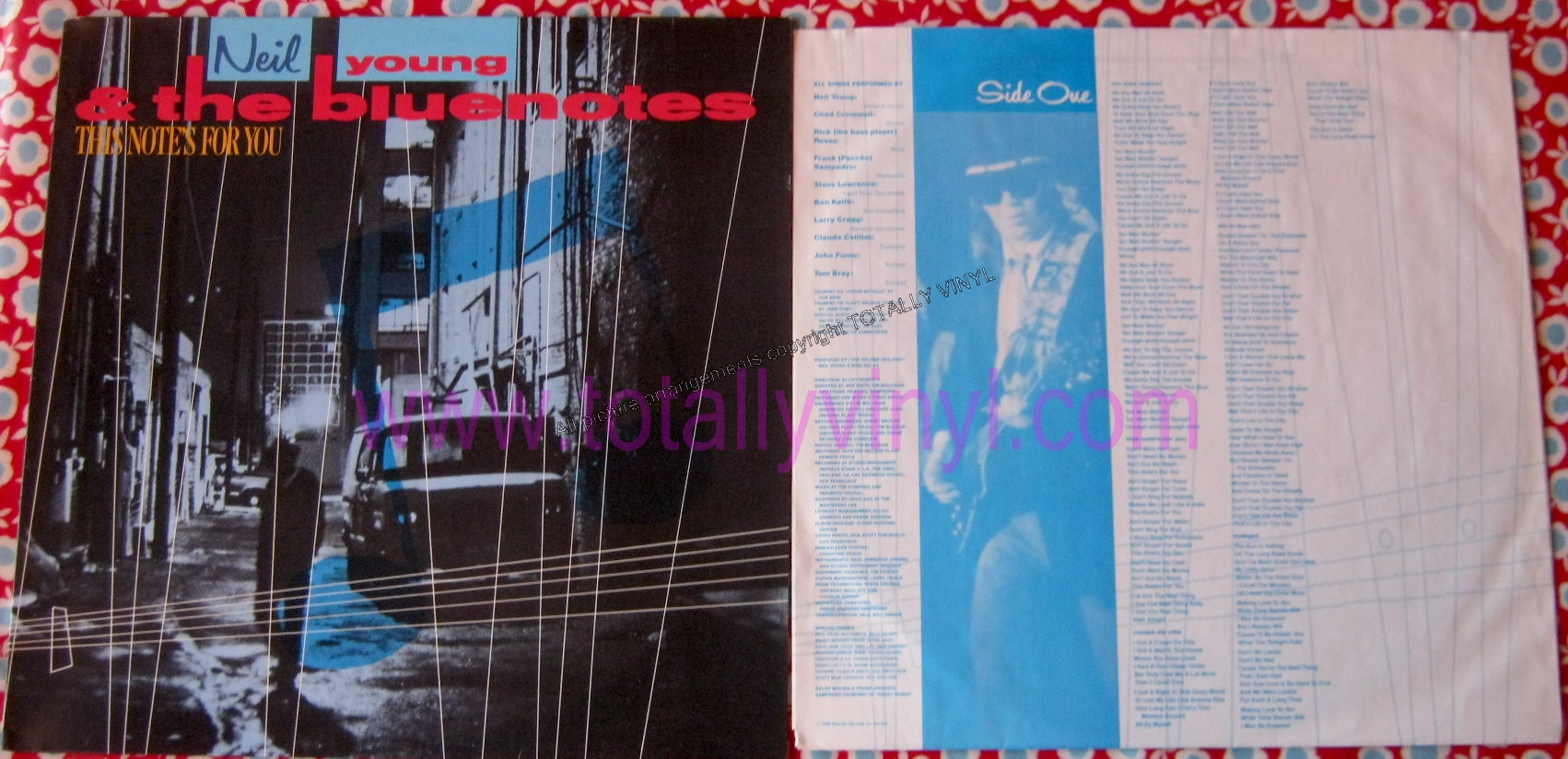 Totally Vinyl Records Young And The Bluenotes Neil