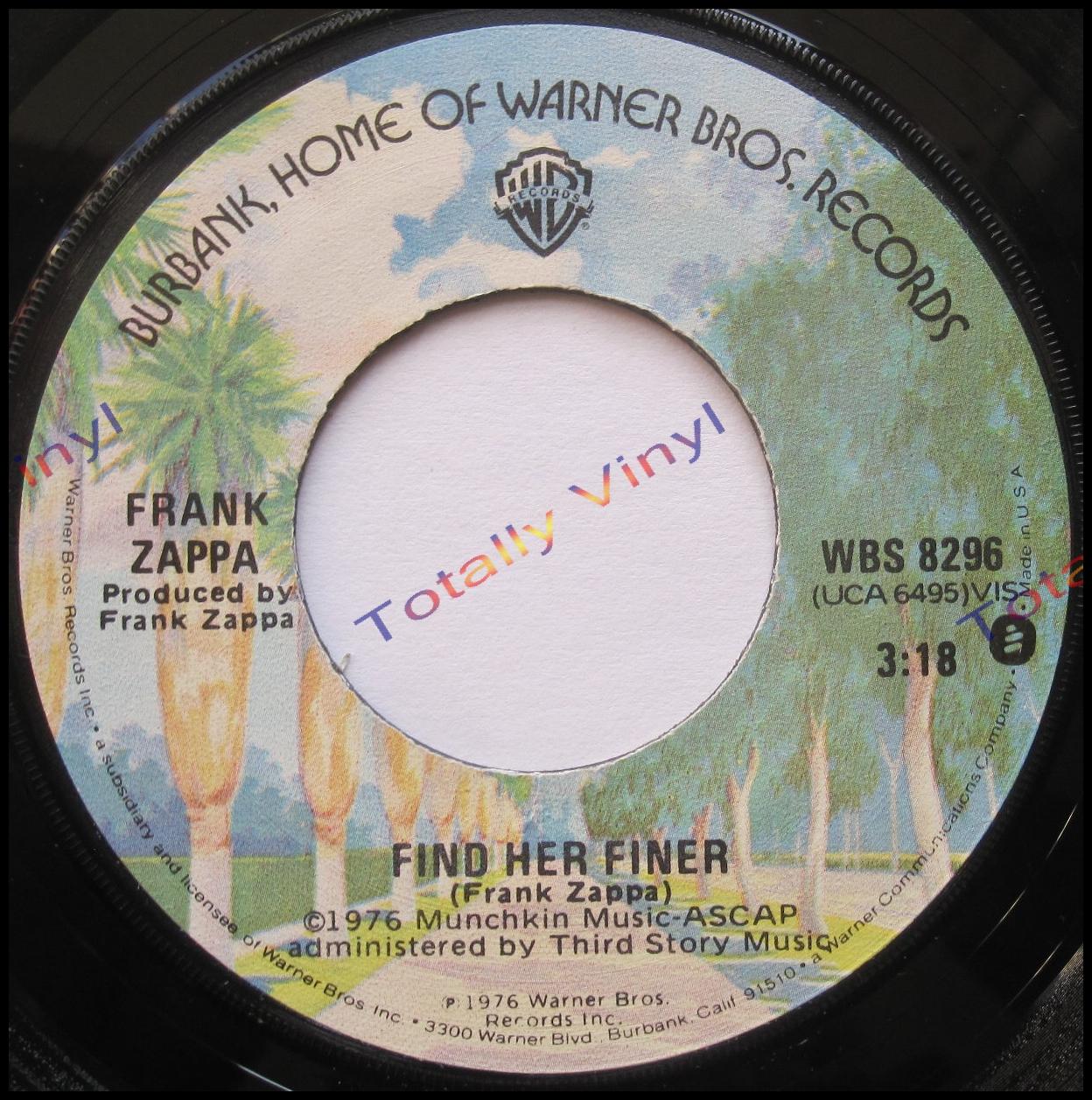 Totally Vinyl Records Zappa Frank Find Her Finer